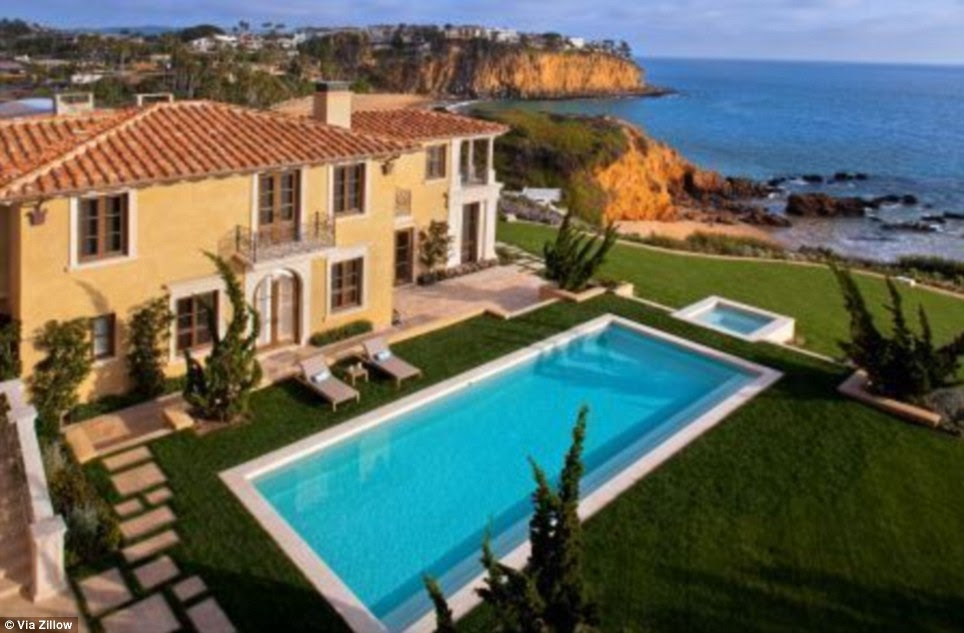 Live like the Romans do: The neoclassical design of the recently listed $65million dollar mansion in Laguna Beach, California looks like something straight out of an Italian dream
