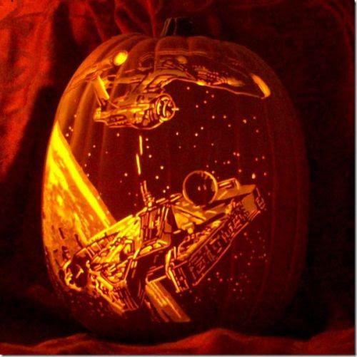 USS Enterprisein pursuit of the Millennium Falcon