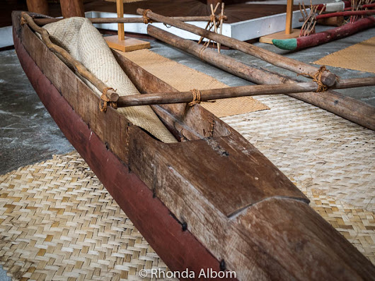 Polynesian Voyager Canoes Close Up: Auckland Maritime Museum