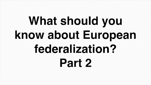 European Federalisation
