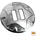 """1-1/4"""" Horse Western Tack Nickel Plated Stamped Slotted Concho 4 Pcs."""