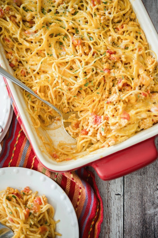 Low Fat Taco Spaghetti Casserole
