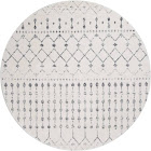 nuLOOM 5' Solid Loomed Round Area Rug, Grey