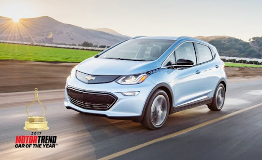 Chevy Bolt Named Motor Trend Car of the Year