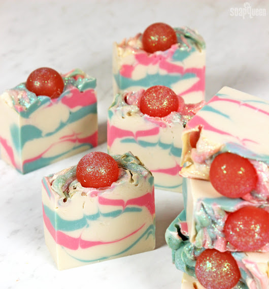 Cotton Candy Swirl Cold Process Soap Tutorial - Soap Queen