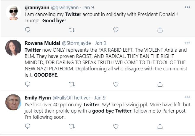 Trump die-hard fans ditch Twitter en masse after his suspension from the platform