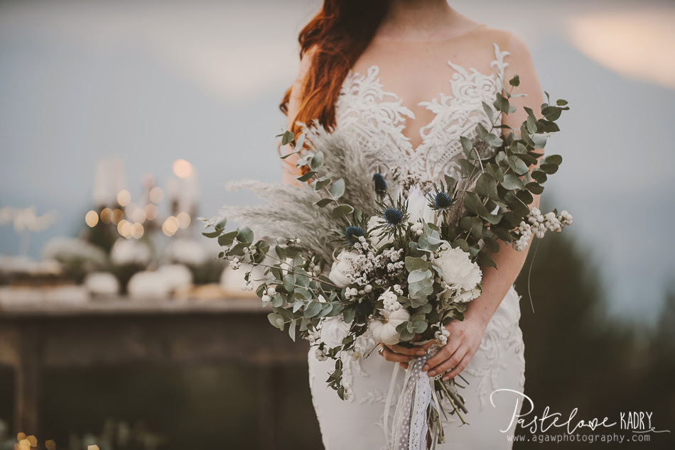 wedding boho flowers
