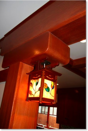 Gamble House replica light with my own stained glass