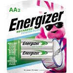 Energizer - Recharge Power Plus Rechargeable AA Batteries (2-Pack)
