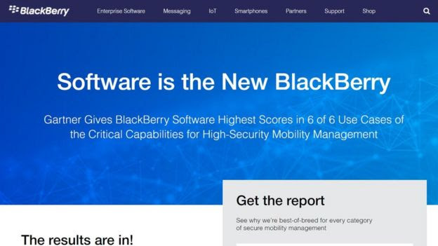 Blackberry website