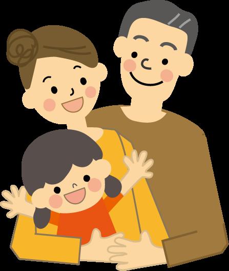家族ファミリーのイラスト無料イラストフリー素材3