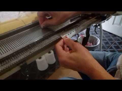 Tricô a maquina sapatinho com lastex
