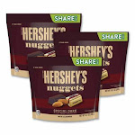 Hershey's Nuggets Share Pack, Special Dark w/ Almonds, 10.1 Oz Bag, 3/Pack