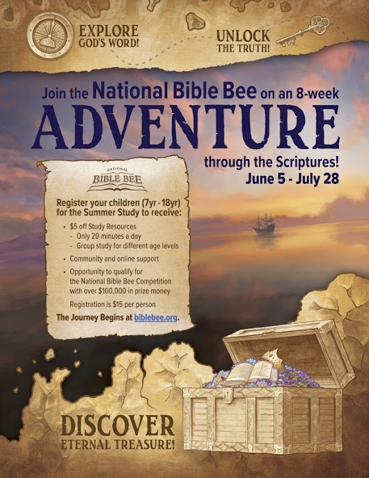 Bible Bee Registration is Now OPEN!