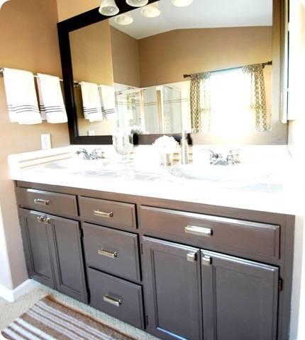 Centsational Girl » Blog Archive Budget Bathroom Makeover + Linky