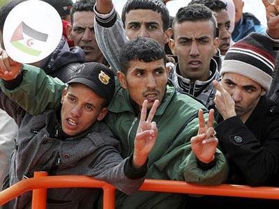 Inmigrantes saharauis.