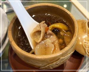 仙草ゼリー好きな友人も「おいしい!」との薬膳スープ。