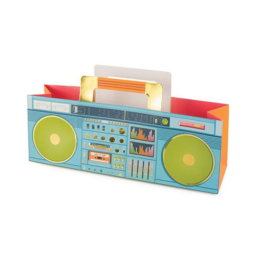 Revel Paper Colorful Boombox Wine Carrier