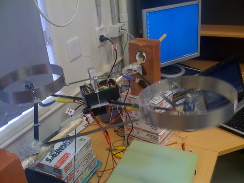 Quadcopter is now stable in 1 axis with a pd controller