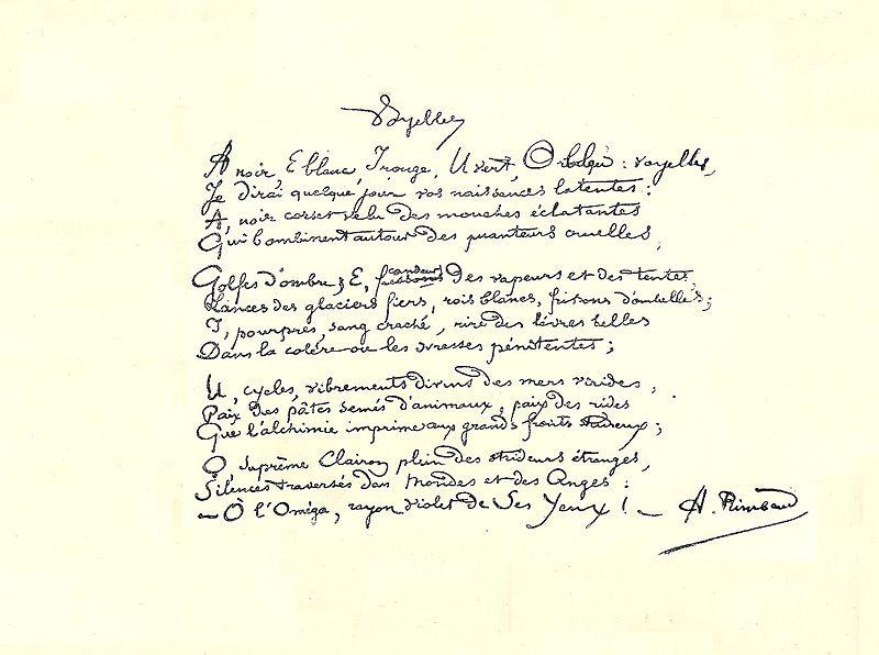 Fichier:Rimbaud manuscrit Voyelles.jpg