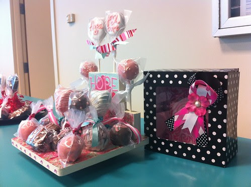 Breast Cancer Awareness Cake Pops 2