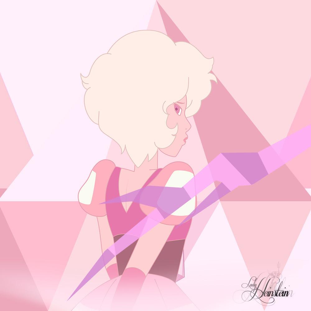 Nueva versión de la imagen que dibuje hace mucho tiempo donde presente una primera versión tentativa de Pink Diamond, ahora que finalmente se revelo el diseño oficial, actualice dicha imagen.