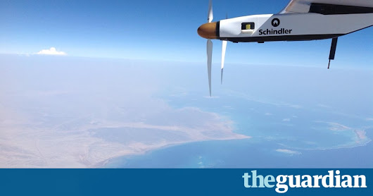 Solar plane makes history after completing round-the-world trip | Environment | The Guardian