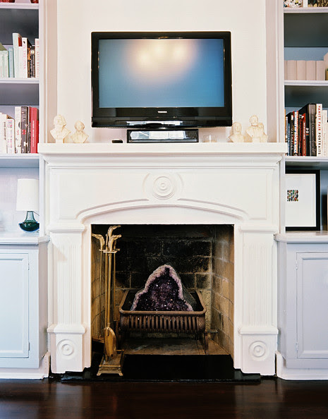 Bookshelves On Both Sides Of A Fireplace Photos Design Ideas