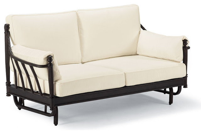 Sorrento Gliding Outdoor Loveseat with Cushions - Frontgate, Patio ...