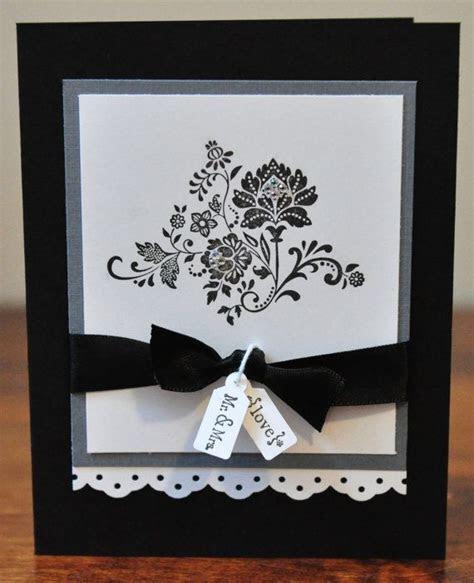 Wedding Greeting Card, White, Black, Gray, Elegant