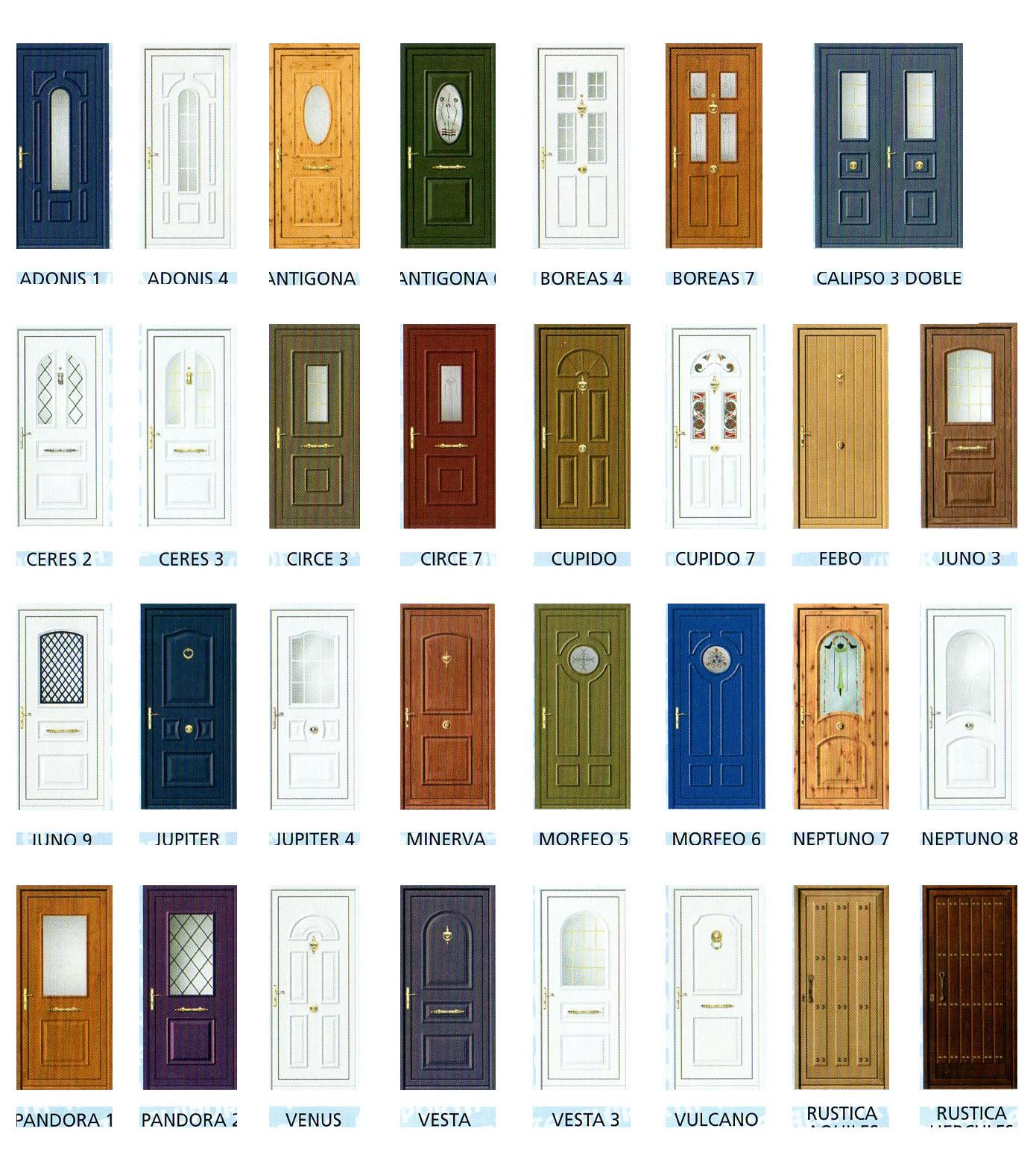 Dormitorio muebles modernos puertas aluminio catalogo for Precios de puertas de exterior aluminio