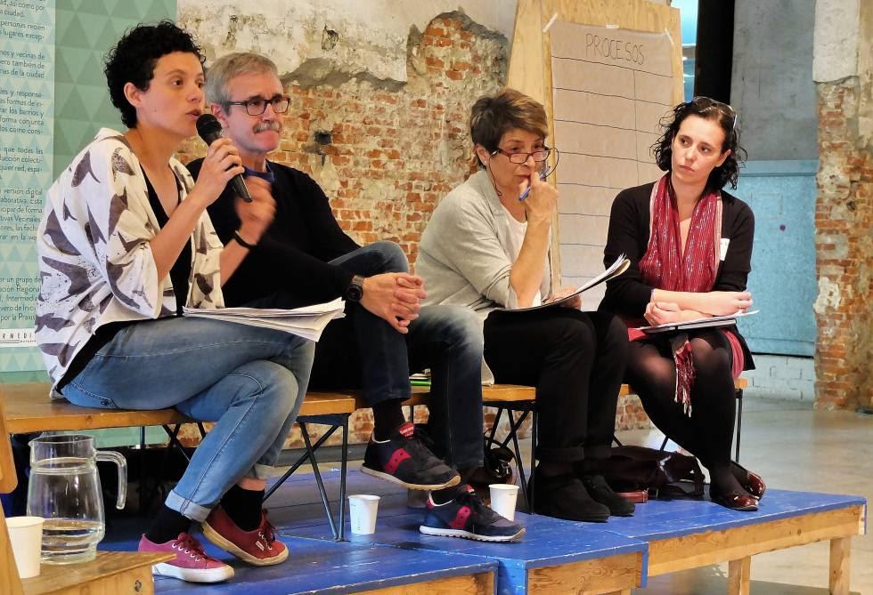 Un momento de los debates del II Encuentro Intersectorial: Pobreza, Desigualdad, Insostenibilida celebrado a finales de abril en Matadero Madrid.
