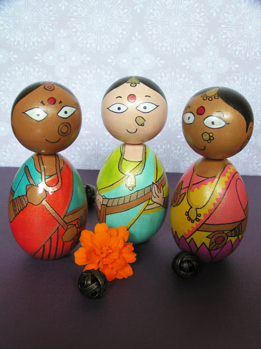 StudioBommai – Hand Painted Wooden Golu Dolls from Indian Mythology