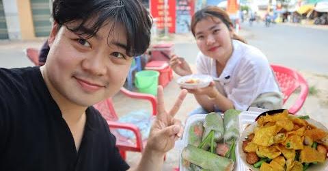 Chỉ với 100k chàng Hoon càn quét món ăn đường phố Cai Lậy-no không chịu nổi.