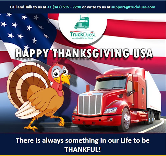 A Special Thanks to Truck Drivers on Thanksgiving
