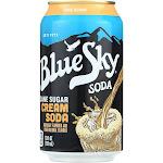 Blue Sky Natural Soda - Cream - Case of 4 - 12 oz.