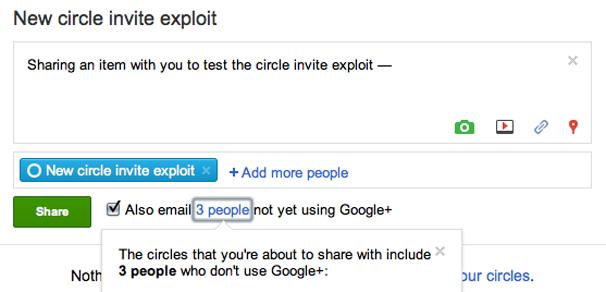 Get On Google+ With This Invite Exploit