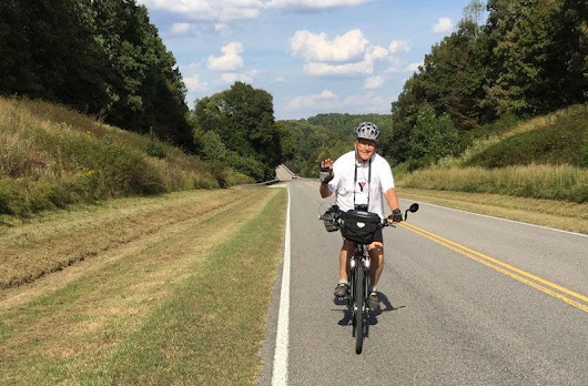 Mark Junge's bicycle ride is more than just a road trip, it's a journey