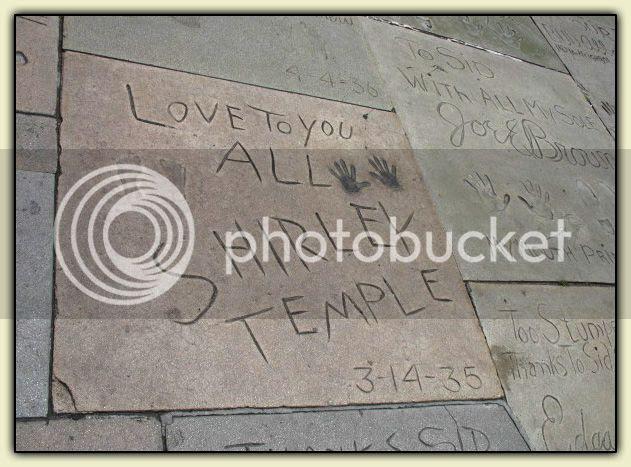 Shirley Temple's handprint