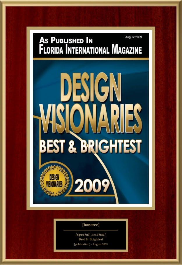 Design Visionaries American Registry Recognition Plaques Award