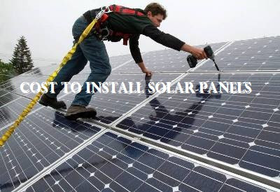 Cost To Install Solar Panels
