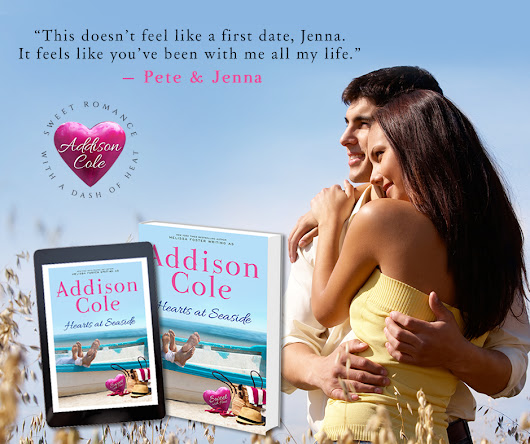 #ARCBookReview and #Giveaway: Hearts at Seaside (Sweet with Heat: Seaside Summers Book 3) by Addison Cole
