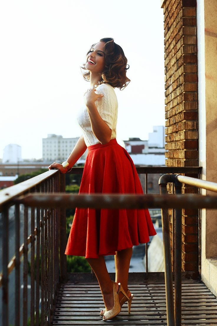red skirts designs and how to wear them 2020