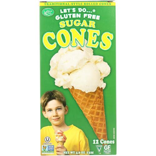 Edward & Sons Let's Do Gluten Free Sugar Cones - 4.6 oz box