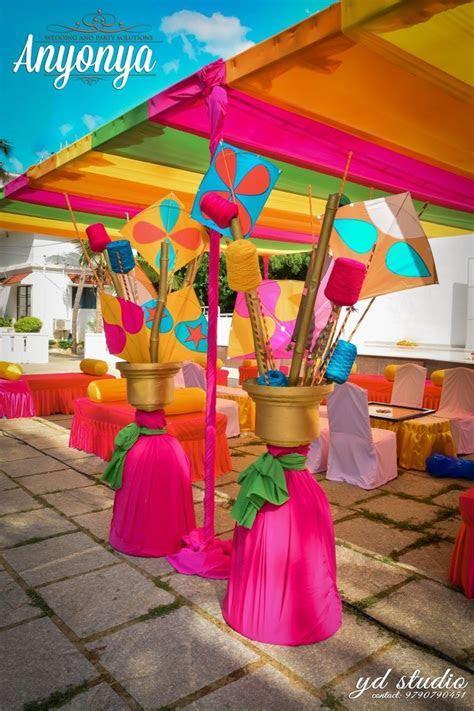 Kites in mehendi decor   Wedding~Decorations   Wedding