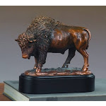 Marian Imports F53202 Buffalo Bronze Plated Resin Sculpture