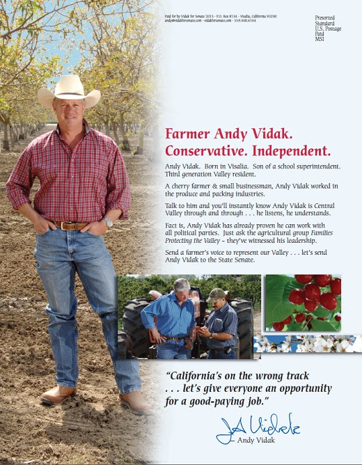Scott Wilk Organizes Support for Andy Vidak in California State Senate Race - Flap's Blog - FullosseousFlap's Dental Blog