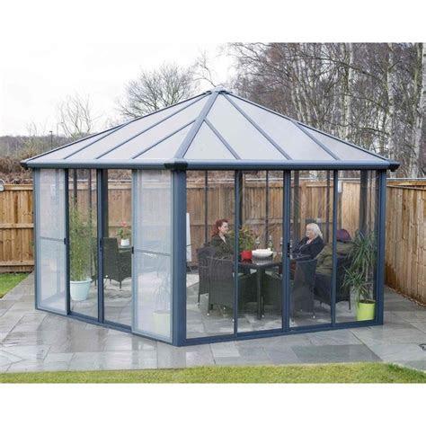 palram garda enclosed gazebo conservatory garden street
