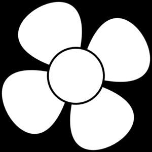 Flower Blackwhite Clip Art At Clkercom Vector Clip Art Online
