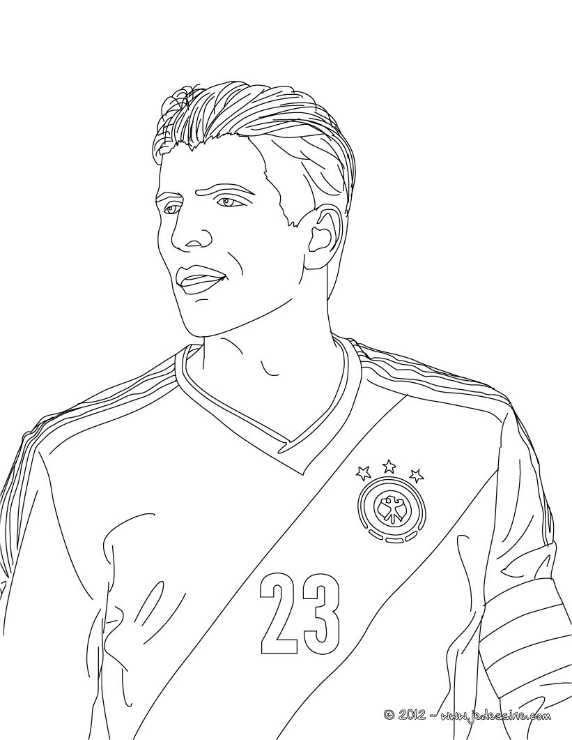 Coloriage du joueur de foot allemand MARIO GOMEZ